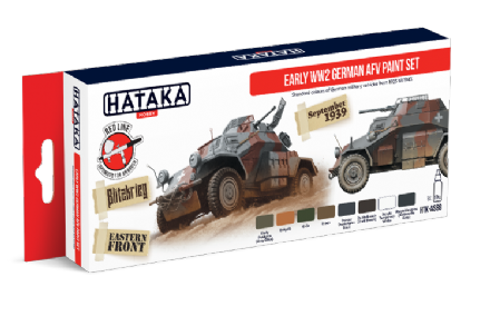 Hataka Early WWII German AFV Paint Set (Acrylic)